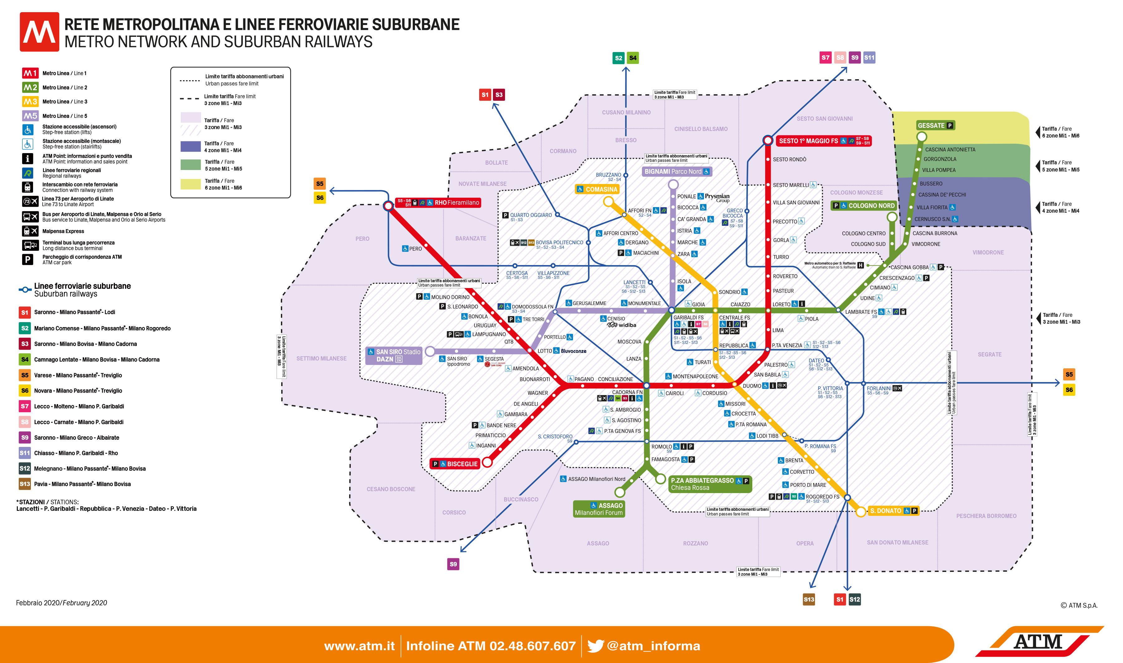 Milan's underground map